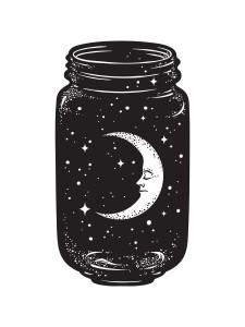 Moon in jar